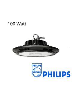 Lumière Élevée de baie d'ufo anti-éblouissement 100W Dimmable avec driver Philips 125L/W IP65