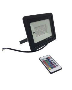 Projecteur LED 50W RGB avec telecommande IP66 resistant a l´eau