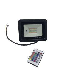 Projecteur LED 30W RGB avec telecommande IP66 resistant a l´eau