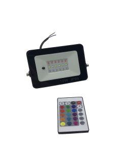 Projecteur LED 10W RGB avec telecommande IP66 resistant a l´eau