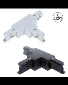 T-Coupler rail triphasé noir / blanc gauche