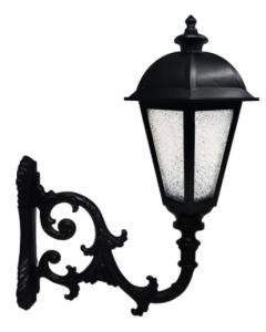 Réverbère KING pour ampoule à LED E27 avec bras - Aluminium