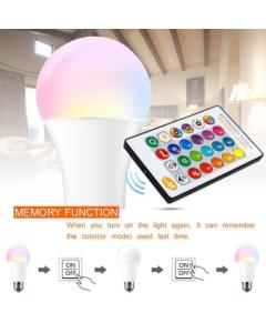 Lampe Disco E27 RGBW avec télécommande 10W