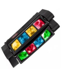 Lampe disco LED à double rotation 24W pour événements ou spectacles contrôlables par DMX