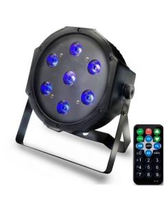 Lampe Disco Led Spot Blacklight Ultraviolet 28 Watt avec Télécommande